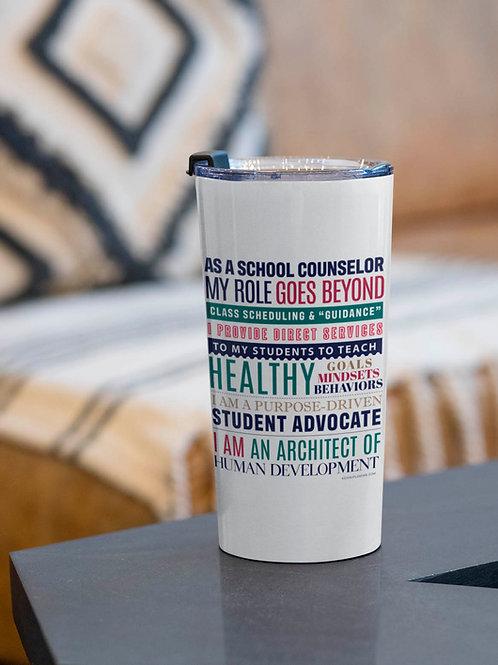 School Counselor Manifesto Tumbler 20oz