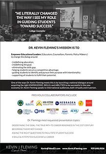 Dr Kevin J Fleming One page Speaker Pres
