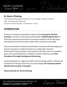 Dr Kevin J Fleming Introduction to the a