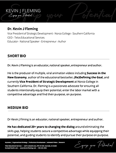 Dr Kevin J Fleming Full Biography.png