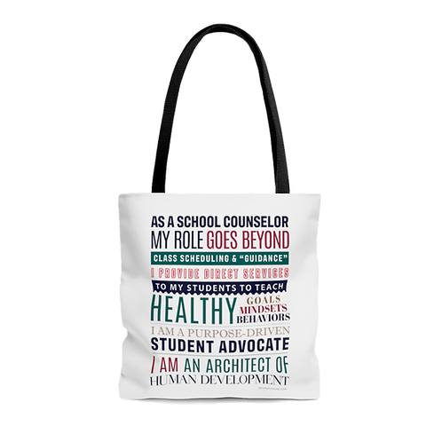 School Counselor Manifesto Bag