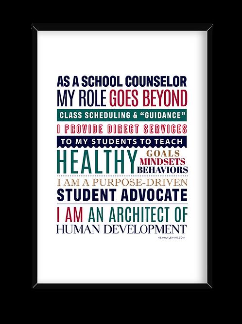 School Counselor Manifesto Poster