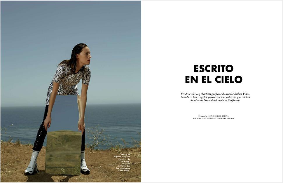 Nina Duque retouching for L'officel México