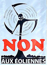 Non aux eoliennes - Sauvez l'Echelettes