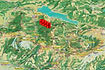 Panoramakarte Mythenregion mit eingezeichneten WKA-Symbolen