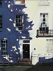 """Original Oil Painting commission. Town house. 12"""" x 16"""""""