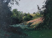 "Original Oil Painting. French landscape. Oil on panel. Miniature 6"" x 8"""