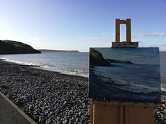 "Original Oil Painting Aberaeron, West Wales, Ceredigion, UK seascape seaside beach 12"" x 16"""