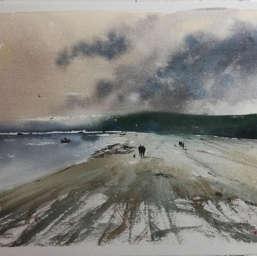 Watercolour Poppit Sands