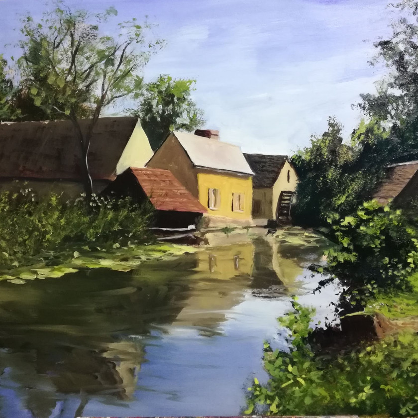 Mill in France oil painting