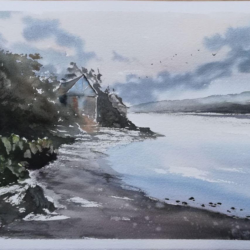 Watercolour Newport Pembrokeshire