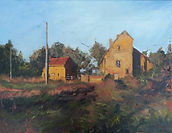 """Original Oil Painting commisssion. French farmhouse. 12"""" x 16"""""""