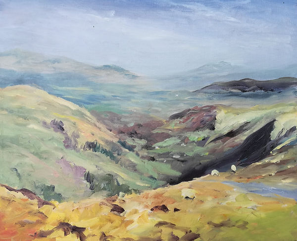 """Original Oil Painting For Sale. Painted En Plein Air. Snowdonia Mountains, North Wales, UK. Oil on canvas panel. 10"""" x 12"""""""