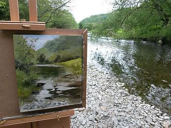 """River Ystwyth, Near Aberystwyth. Original Oil Painting en plein air. 10"""" x 8"""""""