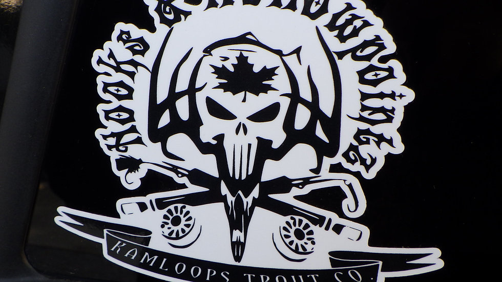 """KTC - Hooks and Hollowpoints 5"""" x 5"""" Decal"""