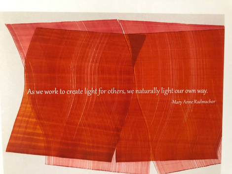 This quote by Mary Anne Radmacher really resonates with me today.