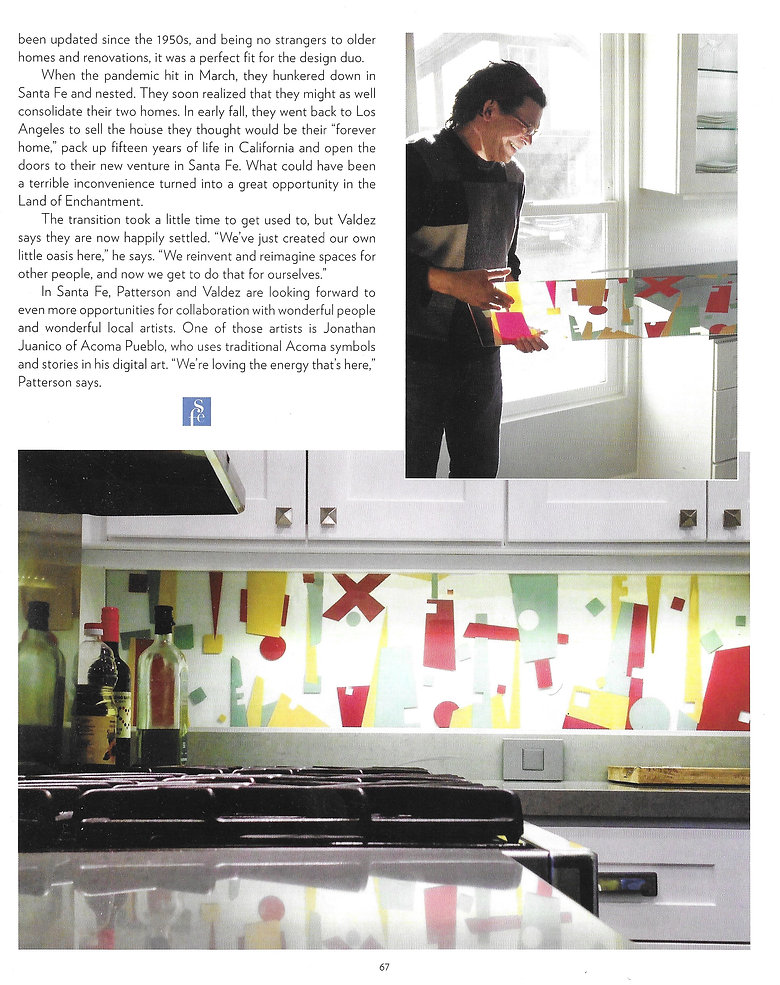 GLASSplash incorporates original art into panels of tempered glass, to provide stunningly unique additions to a kitchen and bath backsplash, along with offices and other environments.
