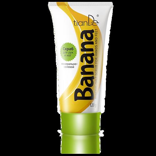 "Scrub mineralno-solny do rąk i nóg ""Banan"" 120 g"