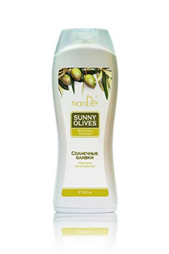 """Odżywczy szampon do włosów """"Słoneczne oliwki"""" 200 ml"""