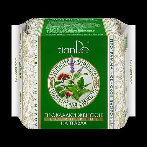 """TianDe Higieniczne wkładki na co dzień na bazie ziół """"Nefrytowa świeżość"""" 20szt."""