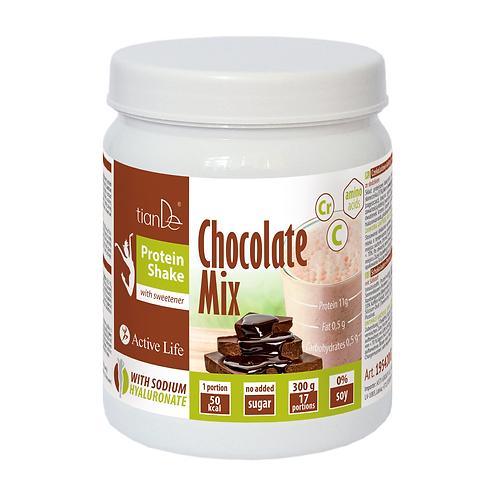 Czekoladowy koktajl-mix proteinowy ze słodzikiem 300g