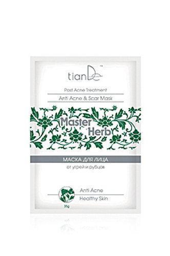 TianDe Oczyszczająca, przeciwtrądzikowa maseczka do twarzy zapobiegająca bliznom