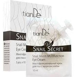 """TianDe Wielofunkcyjny krem pod oczy z mucyną ślimaka """"Snail secret"""", 5 szt x10 m"""