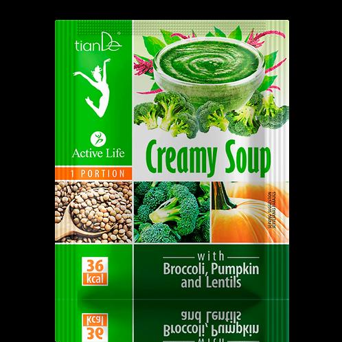 Zupa kremowa z brokułem, dynią i soczewicą 25g