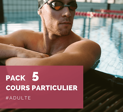 Pack 5 cours particuliers adulte