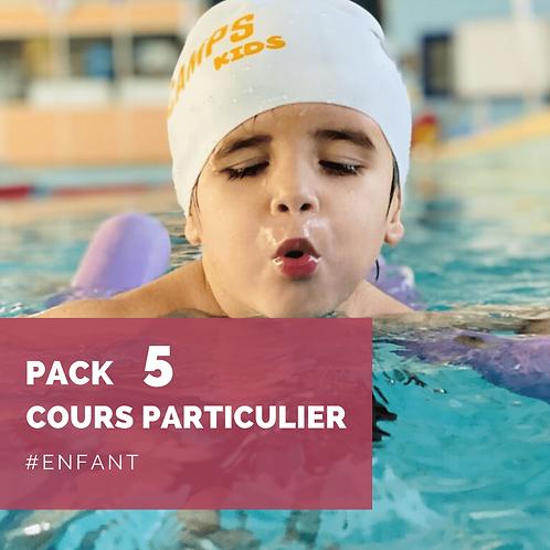Pack 5 cours particuliers enfant