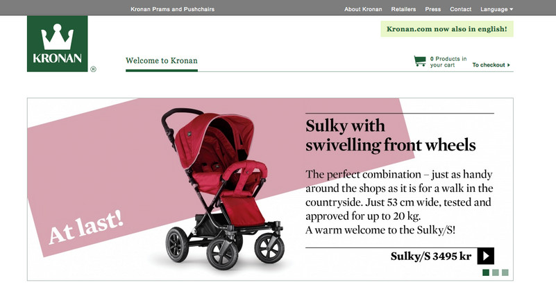 New website content for retail industry.