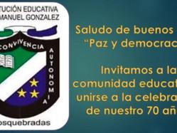 Buenos días: paz y democracia, celebración de los 70 años de vida institucional