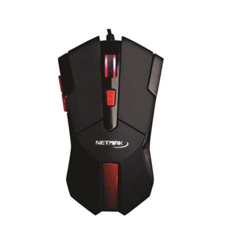 Mouse Optico GAMER - USB - Scroll Luminoso - 2400 Dpi - NETMAK - NM-STRIKE