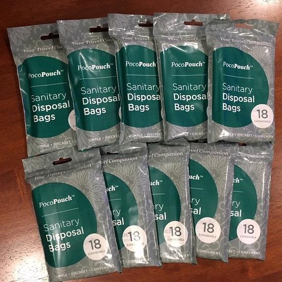 Sanitary Disposal Bags, 10 Packets