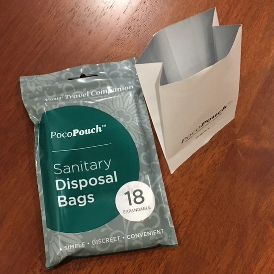 Sanitary disposal bags 5 Packets x 18