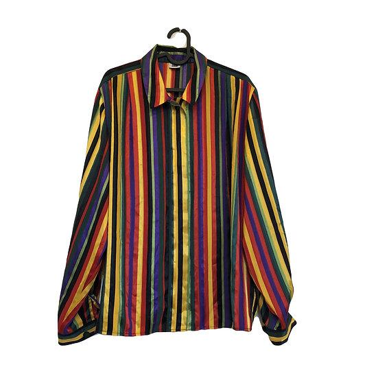 Bunte, gestreifte Vintage bluse