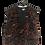 Thumbnail: Weste schwarz/braun/rot/grün mit Golddruck
