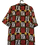 Thumbnail: Bluse mit Barok/Zebra Muster. Schwarz/gelb/gold/rot