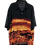 Thumbnail: Tropenhemd mit Pagodenmuster schwarz/orange