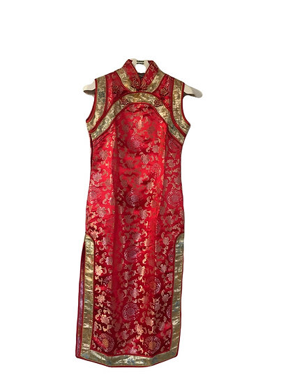 Chinesisches Party Kleid, rot/gold