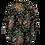 Thumbnail: Schwarze Bluse mit grossen Rosen