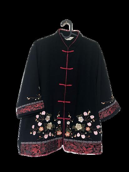 Chinesische Jacke mit Blumenmuster