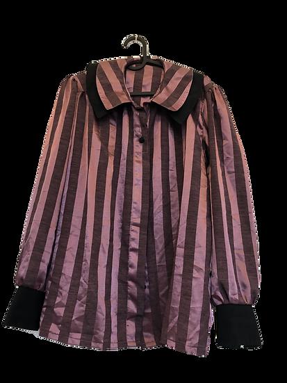 Rosa/schwarz schattierende Bluse