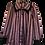 Thumbnail: Rosa/schwarz schattierende Bluse
