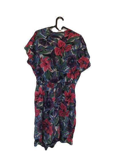 Vintage Hosenkleid mit Tropenmuster