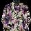 Thumbnail: Bluse mit Blumenmuster grün/rosa/lila/schwarz