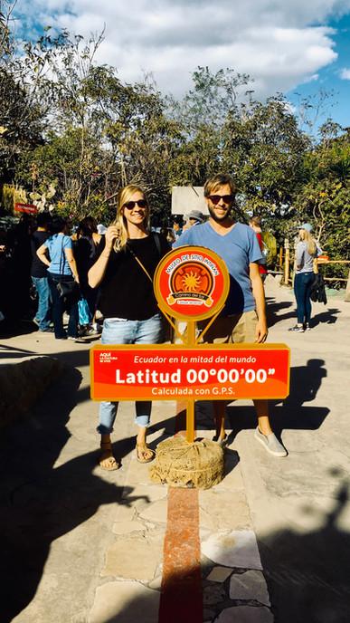 Auf dem Äquator