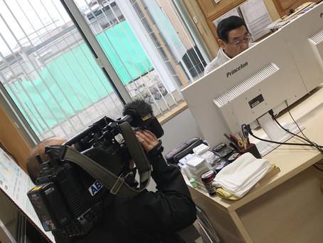 本日11/21はABA青森あさひ放送の撮影中です