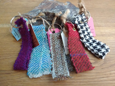 Collection of Harris Tweed Sash Keyrings