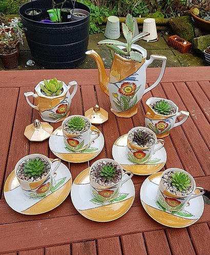 Succulent Tea Set